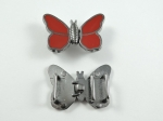 Butterfly Frog Fasteners Clasp Metal 2 Piece Set