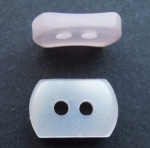 13mm Rectangle Pink Sewing Button