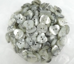 Novelty Button Heart Marble Cream Black 13mm