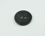 21mm Plain Black Sewing Button