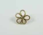 15mm Gold Flower Shank Metal Button