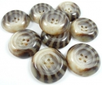 35mm Chunky Tiger Stripe Sewing Button 4 Hole