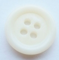 15mm Aran Sewing Button White 4 Hole