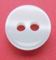 Tiny White Shadow Stripe Sewing Button 10mm