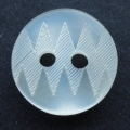 11mm Zig Zag Pattern Cream Button