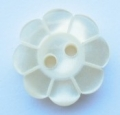 15mm Pearlized Flower Cream Sewing Button