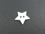 Novelty Button White Star 14mm