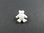 Novelty Button Teddy White 20mm