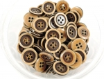 15mm Wood Like Sewing Button 4 Hole