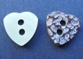 11mm Heart Shell Like Sewing Button