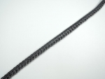 8mm French Gimped Braid Trimming Dark Grey