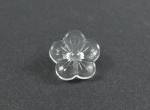 14mm Clear Crystal Rose Shank Sewing Button