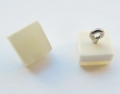 9mm Square Pearl Shank Sewing Button