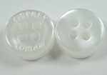 11mm OSPREY LONDON White Sewing Button 4 Hole