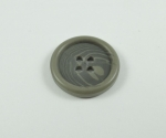 15mm Grey Aran Sewing Button 4 Hole
