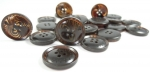 25mm Pretty Pattern CLASSIC Brown 4 Hole Sewing Button