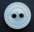 11mm Swirl Edge White Sewing Button 6109