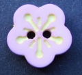 Novelty Button Flower Pink and Yellow 12mm