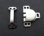 Trouser Skirt Hook and Bar Fasteners Silver 10mm