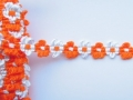 14mm Daisy Chenille Braid Orange and White