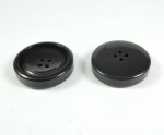 28mm Black Chunky 4 Hole Sewing Button