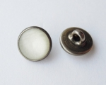 12mm Pearl Marble White Shank Metal Button