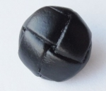 16mm Real Leather Football Black Shank Sewing Button