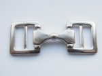 Double Ended Buckle Metal Slider 19mm Silver