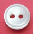 Tiny Ring Edge Bridal White Pearl Sewing Button 10mm