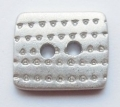 Rectangle Shape Silver Sewing Button 10mm