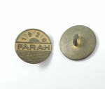 15mm FARAH 1920 Gold Shank Metal Button