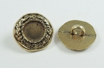 15mm Gold Shank Metal Button 8426