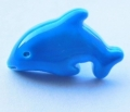 Novelty Button Dolphin Turquoise 18mm