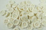 100 x 15mm Off White Wholesale Sewing Buttons 4 Hole
