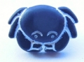 Novelty Button Crab Navy15mm
