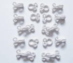 10 x Fur Hooks And Eyes Fasteners White 10-11mm Size 2