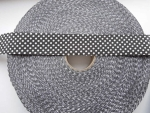 140 Metres Polkadot Ribbon 30mm Black and White