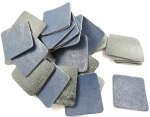 Iron On Navy Square Faux Leather Patch 40mm