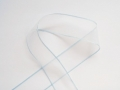 Organza Ribbon 30mm White And Light Blue