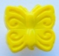 Novelty Button Small Butterfly Yellow 10mm