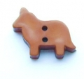 Novelty Button Dog Brown 18mm