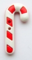 Novelty Button Candy Cane Red and White 38mm