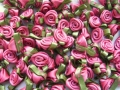 100 Satin Ribbon Roses 12mm Colonial Rose