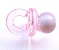 Novelty Button Baby Dummy Clear Pink 20mm