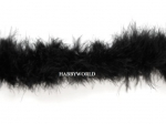 Marabou String Feather Boa 10m Black