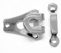 Trouser Skirt Hook and Bar Fasteners Silver 9mm