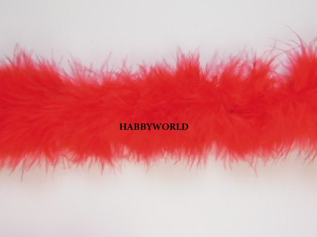 Marabou String Feather Boa 10m Red