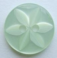 100 x 11mm Star Center Light Green Sewing Buttons