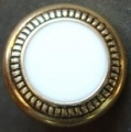 100 x 15mm Gold Pattern Edge White Center Sewing Buttons