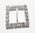 Square Diamante Buckle Slider 13mm Ribbons
